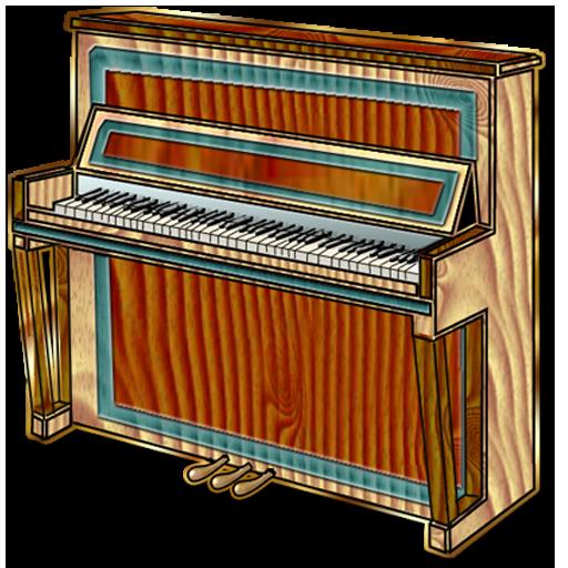 Instrumental-Upright-PianoUpright Piano Clip Art