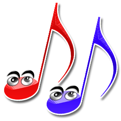 Pair-O'-Happy-Notes-3 Red & Blue