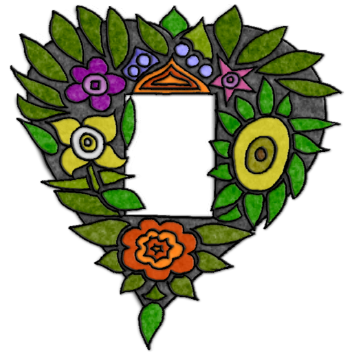 Felted-Floral-Heart-Frame