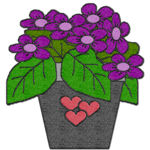 Felted Violets
