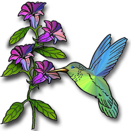 Hummingbird & Flower 2
