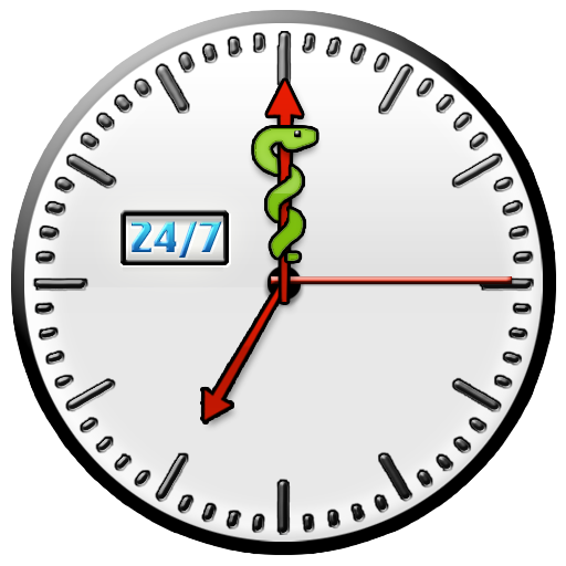 24-7 Nursing Care Clock