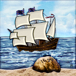 Mayflower Landing at Plymouth Rock