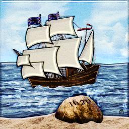 Mayflower Landing at Plymouth Rock