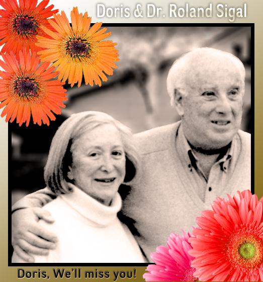Doris & Dr. Roland L. Sigal - Doris, We'll Miss You!